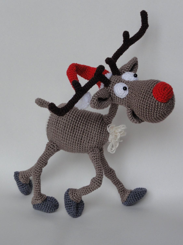 Amigurumi Crochet Pattern Rudolf the Reindeer
