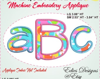 Applique Alphabet - Embroidery Font - Machine Embroidery Designs - Digital Download