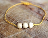 Simple Wooden Bead Bracelet