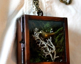 Enchanted Forest Box Pendant - Collier Forêt Enchantée