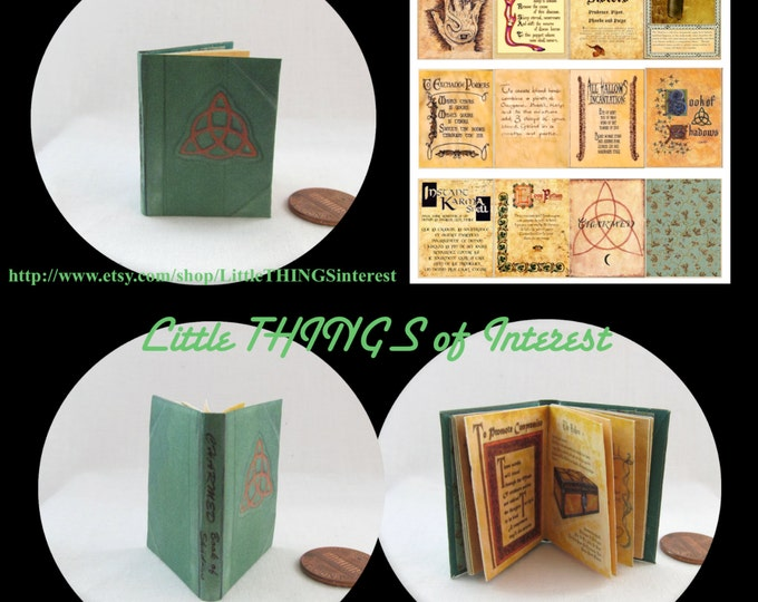 CHARMED BOOK of SHADOWS Magic Book 1:6 - Play - Barbie Scale Readable Illustrated Book