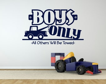 Boys Only Wall Decal - Decals - Boy's Room  - Wall Decals - Nursery decals - Reading Decals - Decals - Vinyl
