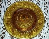 Vintage Tiara amber luncheon plates