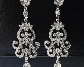 Bridal Earrings Crystal, Bridal Crystal Earrings, Bridal Earrings, Swarovski Drop Dangle Bridal Earrings, Crystal Earrings, Wedding Earrings