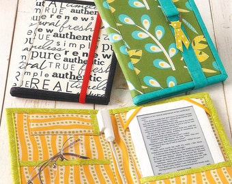 """SALE - Pattern - """"Reader Wrap"""" E-Reader Cover Paper Sewing Pattern / Instruction Booklet by Atkinson Designs"""