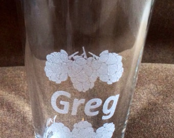 Custom Etched Beer glass