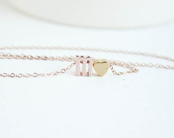 Rose Gold Jewelry, Rose Gold Letter Necklace, Lower Case Letter, Rose Gold Initial, Rose Gold Initial Necklace, Initial Jewelry