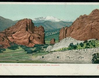 Pikes Peak Colorado Postcard 1906 Unused Undivided Back