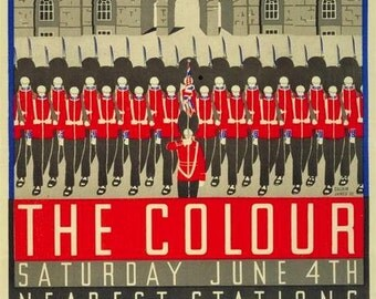 Art Print London Underground Trooping the Colour 1932,  Poster Print