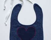 Denim Bib with Heart