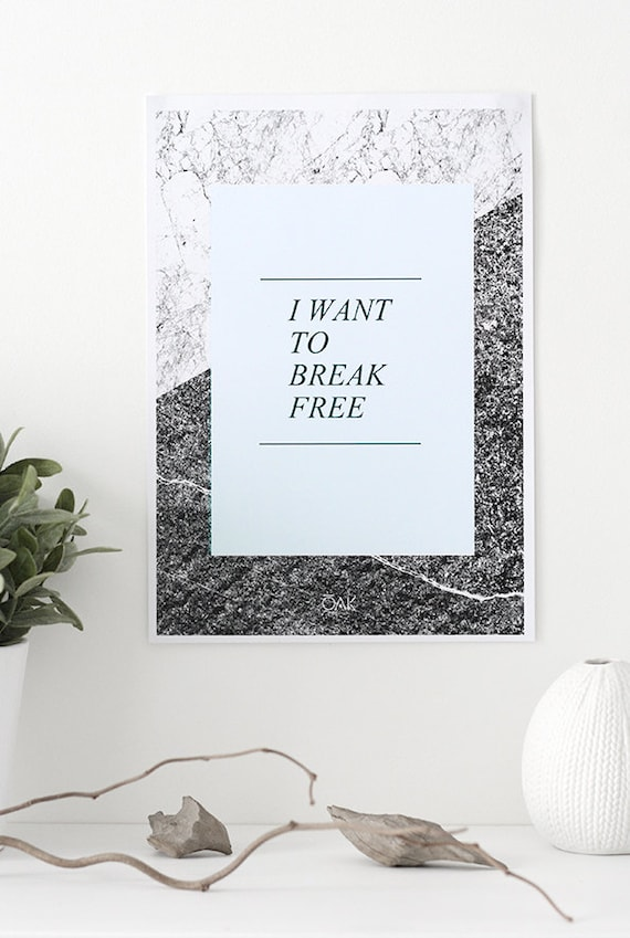 ROCK - I Want To Break Free - Poster A4 (photographie&illustration numérique)