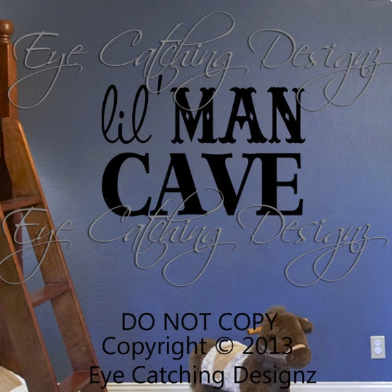 Small Man Cave Quotes : Lil little man cave quote bedroom bedding nursery playroom