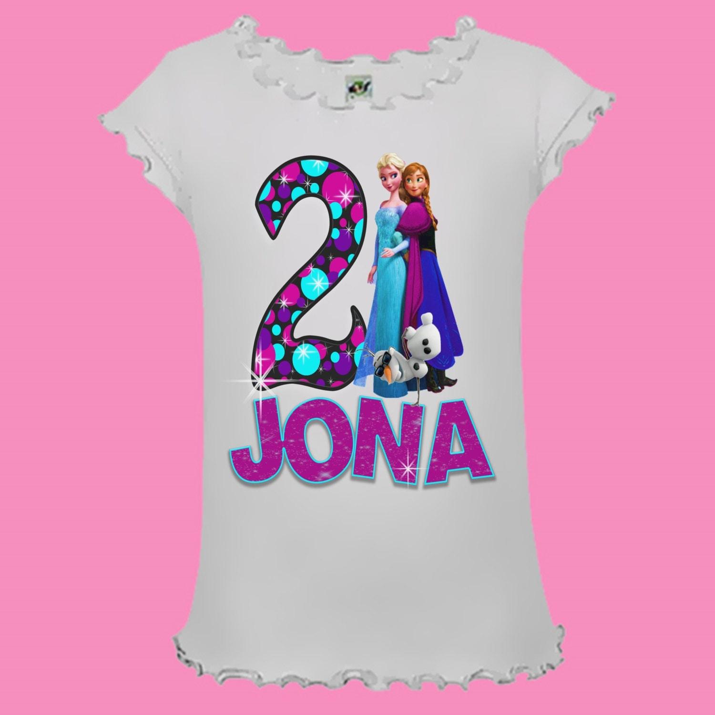 Disney Frozen Birthday Shirt Polka Dot Design