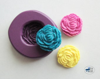 Peony Mold/Mould - Rose Mold - Silicone Mold - Flower Mold - Polymer Clay Resin Fondant