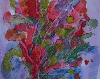 Field flowers, mixed media on canvas, 2014
