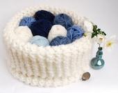 Big Knitting Basket, Chunky Breimand organiser voor je breiwerk