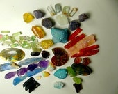 Full Color Spectrum Wire Wrapping Gemstone Parcel; Opal, Amethyst, Sapphire, Tourmaline, Aqua Aura, Apatite, Kyanite