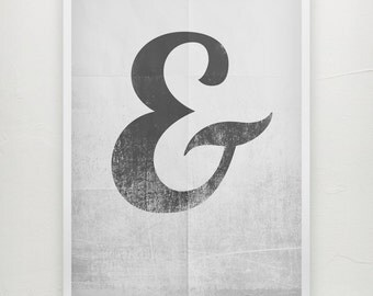 1 Character Ampersand poster Ampersand print - Typography Poster