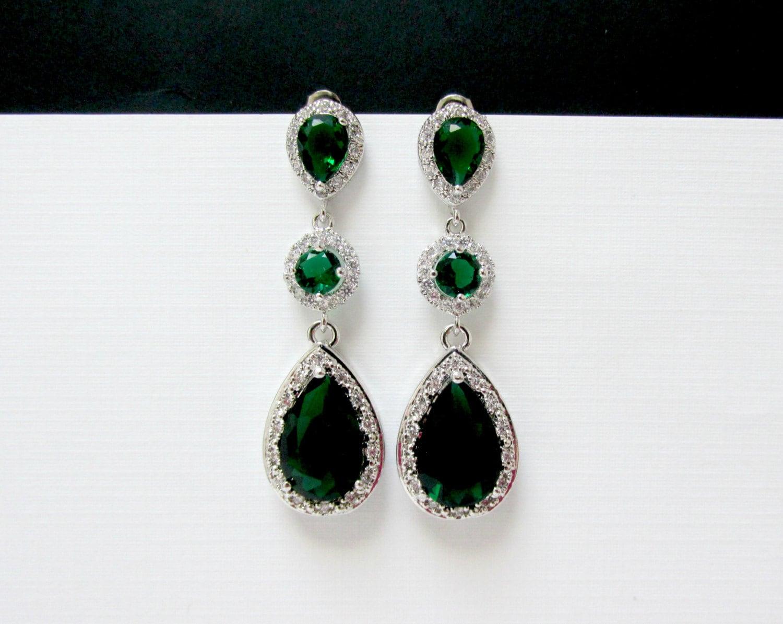 all emerald earrings bridal emerald earrings 3 tier