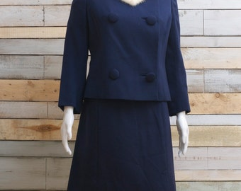AMAZING Clarewood (believed to be Nina Ricci rare collection) Jackie O/ Madmen style 50's 2 piece suit