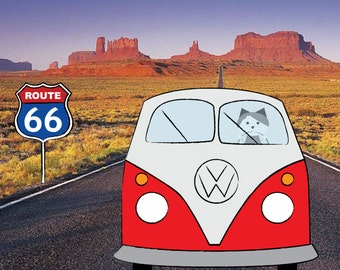 U.S. Route 66, sticker 3.9 x 3.9 in