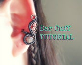 Ear Cuff Tutorial, DIY Wire Wrapped Earcuff Tutorial.  Instant Download PDF Wire Wrapping Instructions for Beginners, earcuff instructions