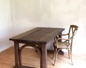 Salvaged Farmhouse Desk in Mocha Rose 60x30