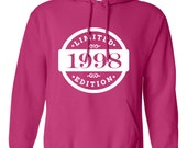 1998 Limited Edition 2016 Birthday Hoodie 18th Birthday Gift Mens Womens Ladies Hoodie Hooded Sweatshirt Sweater Unisex Modern Custom B-421