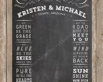 Custom Chalkboard Wedding Photo Backdrop Printable