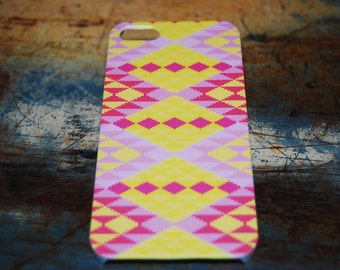 Aztec Tribal Print Case For iPhone 6 / (4.7) / 4.7 / 5c / 5s / 5 / 4s / 4 Hard Plastic Rigid Pattern Cover Printed In USA c17