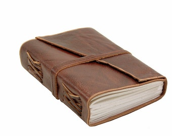 Leather book Gaucho in Buffalo Leather - diary, journal, notebook or travel diary