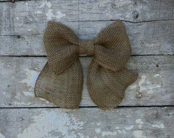 Burlap Bow for Wreath, Burlap Wreath Bow - MANY COLORS AVAILABLE