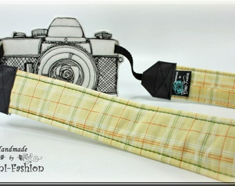 Camera strap, camerastrap, DSLR, yellow