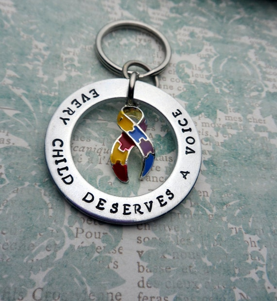 Autism Awareness Keychain, Every Child Deserves A Voice, Aspergers, Autism Spectrum, Special Needs Awareness, Autism Mom, Autism Dad