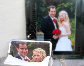 Personalized Constance Handcrafted wedding photo clutch, personalized bridal clutch bag, personalized bridesmaid gift, photo lining only
