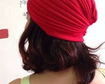 SALE Vintage 70s Style Red Turban Hat, Betmar Turban cap Indian Gypsy hat