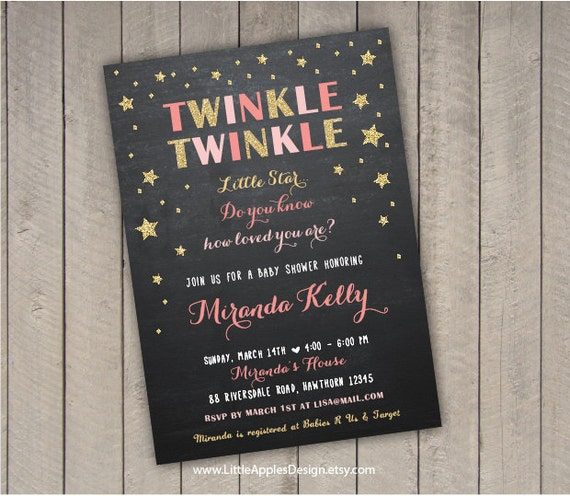 baby shower twinkle twinkle invitation twinkle twinkle little star