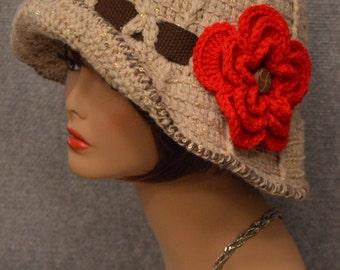 Womans Floppy Brim Hat