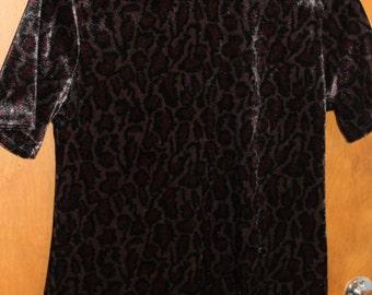 Vintage velvet cheetah top