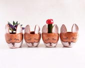 Ceramic Fox Planter - Fox Decor Housewares - Ceramics and Pottery - PotteryLodge