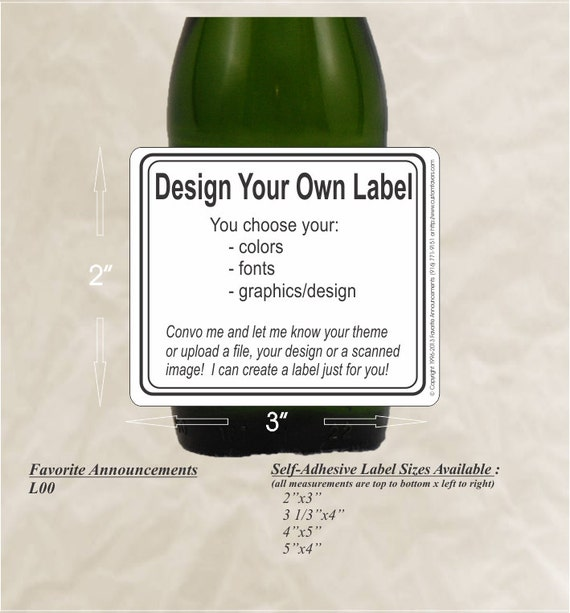 Design Your Own Wedding Gift Tags : DIY Label, Design Your Own Labels, Beer Labels, Wine Labels, Champagne ...