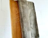 Bedspread or Carpet Small Khaki - 70 x 160 Centimeters - Handmade Decorative Leather Rug.