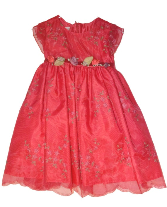 Christmas red dress size 3t unique vintage find like new holiday gifts