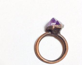 Raw amethyst jewelry | Raw Amethyst crystal ring | Purple amethyst ring | Rough amethyst ring | Raw mineral statement ring | Purple amethyst
