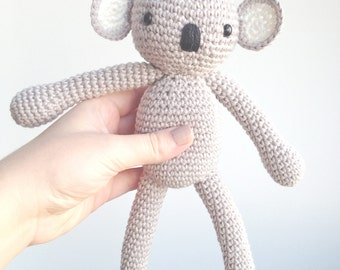 Koala Plush, Koala Stuffed Animal, Koala Plushie, Koala Stuffed Toy, Crochet Koala