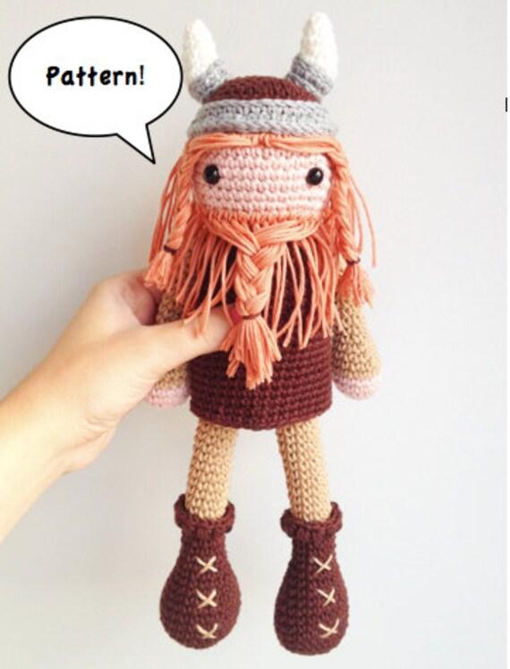 Etsy Amigurumi Patrones : Viking Amigurumi Pattern Viking Crochet Pattern Crochet