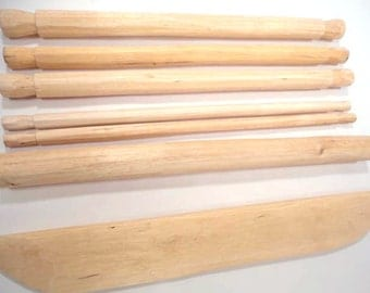 8 Inch Rustic, Wooden, Handcarved Backstrap Loom, Perfect for Children to Learn to Weave