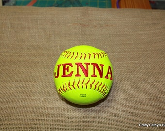 Custom Embroidered Softballs