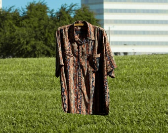 Tribal Mens Button Up