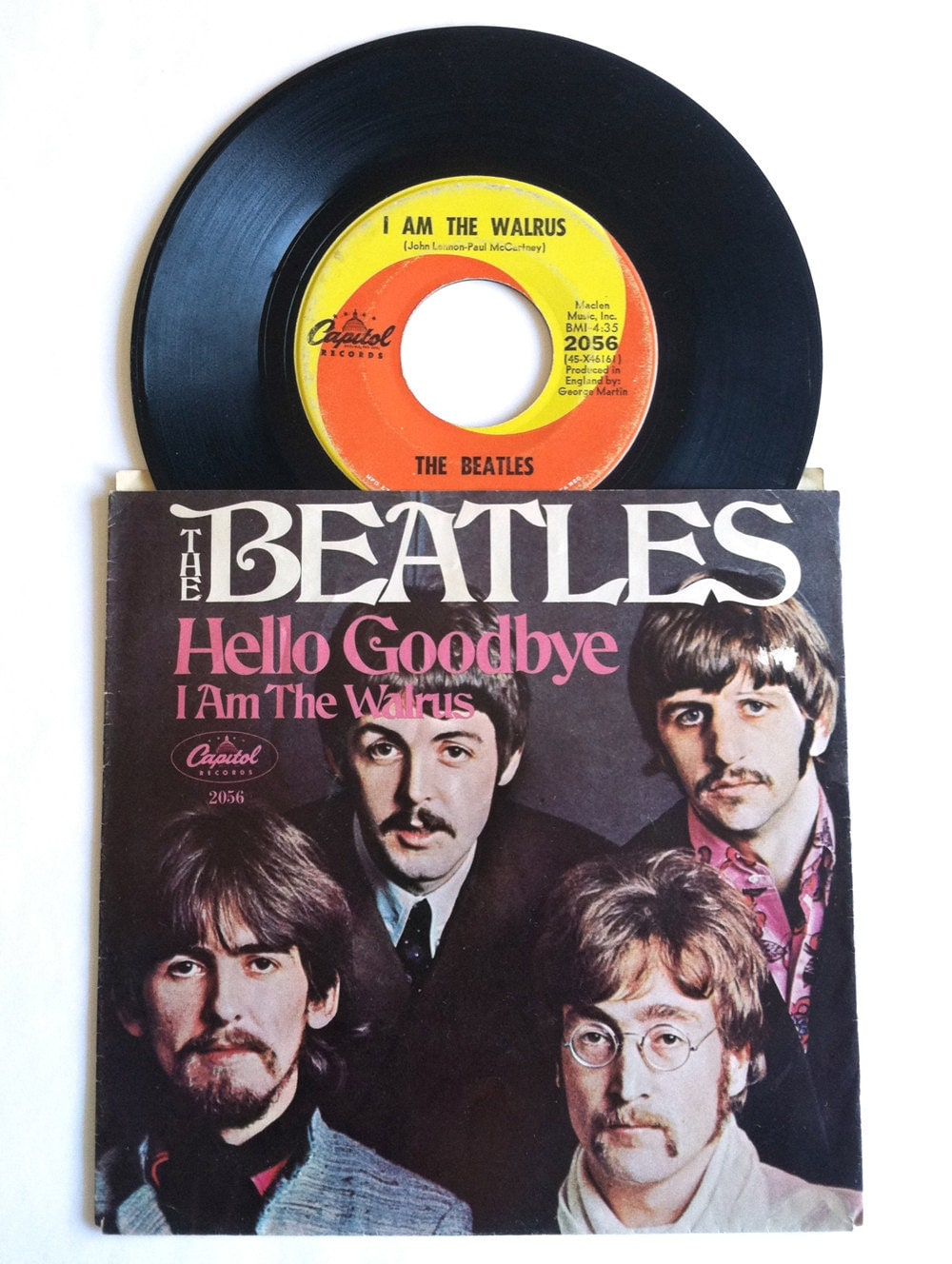 1960 S Beatles 45 Record With Sleeve Hello Goodbye And I